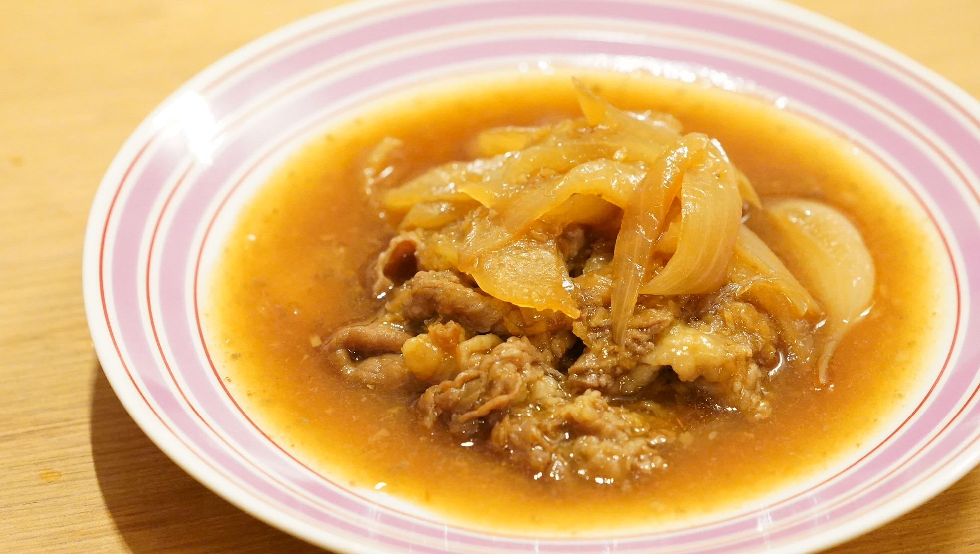 無印良品のおすすめ冷凍食品「牛肉とたまねぎの生姜煮」の写真