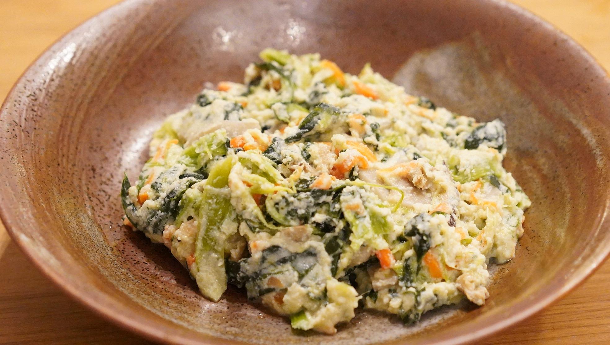無印良品のおすすめ冷凍食品「小松菜の白和え」の写真