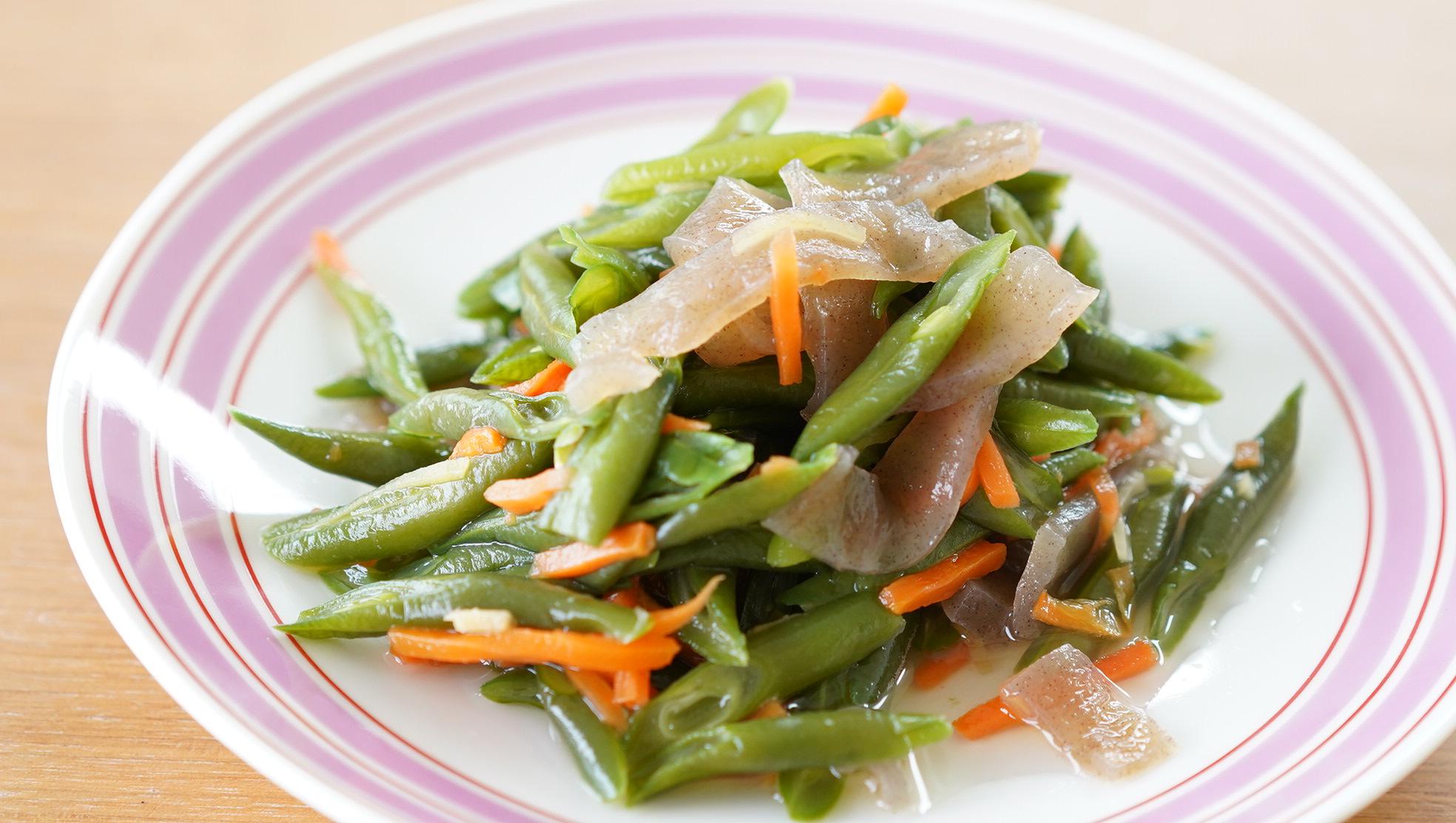 無印良品のおすすめ冷凍食品「いんげんの生姜醤油和え」の写真