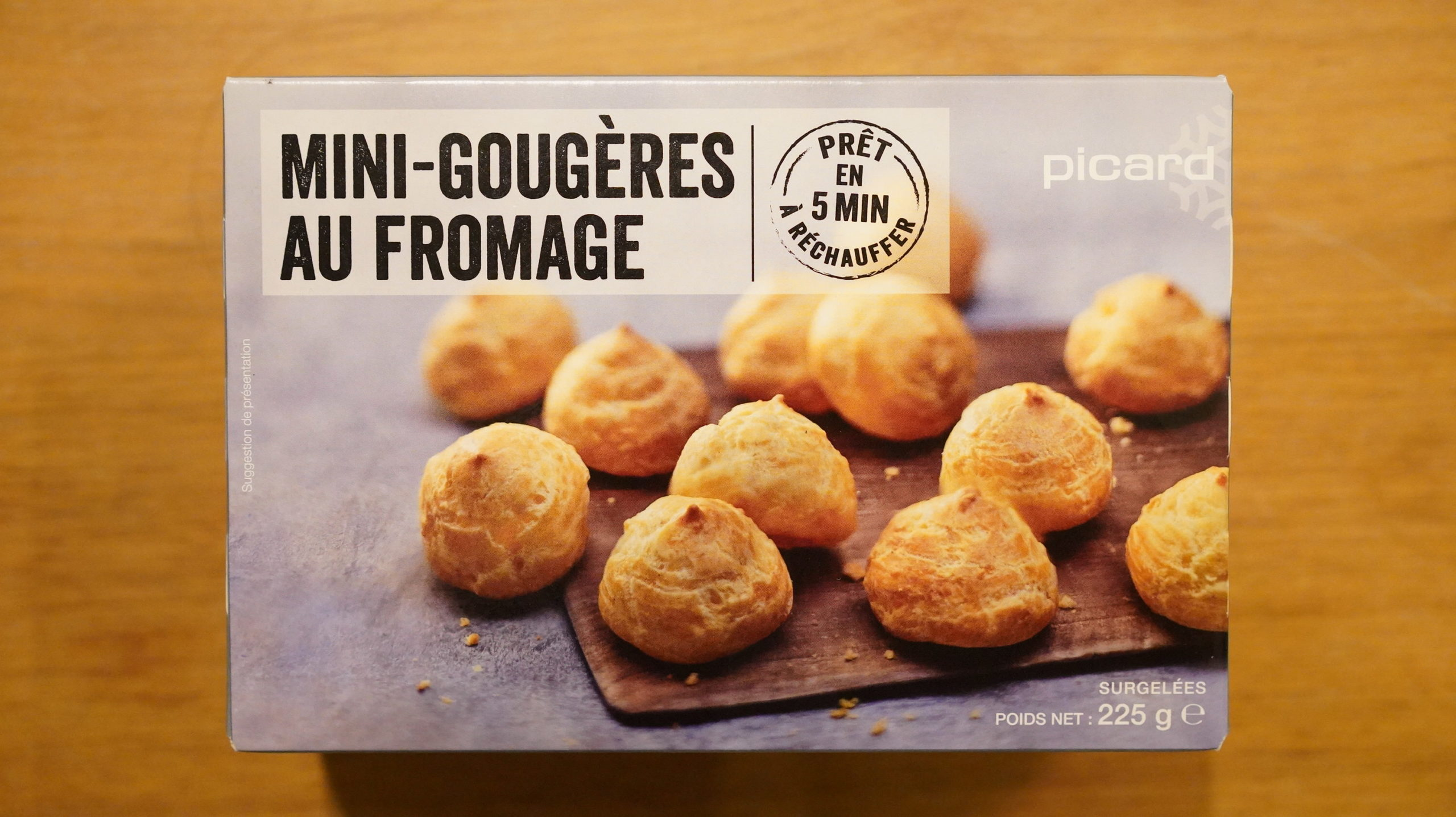 ピカールのおすすめ冷凍食品「食前のおつまみグジェール」のパッケージ写真