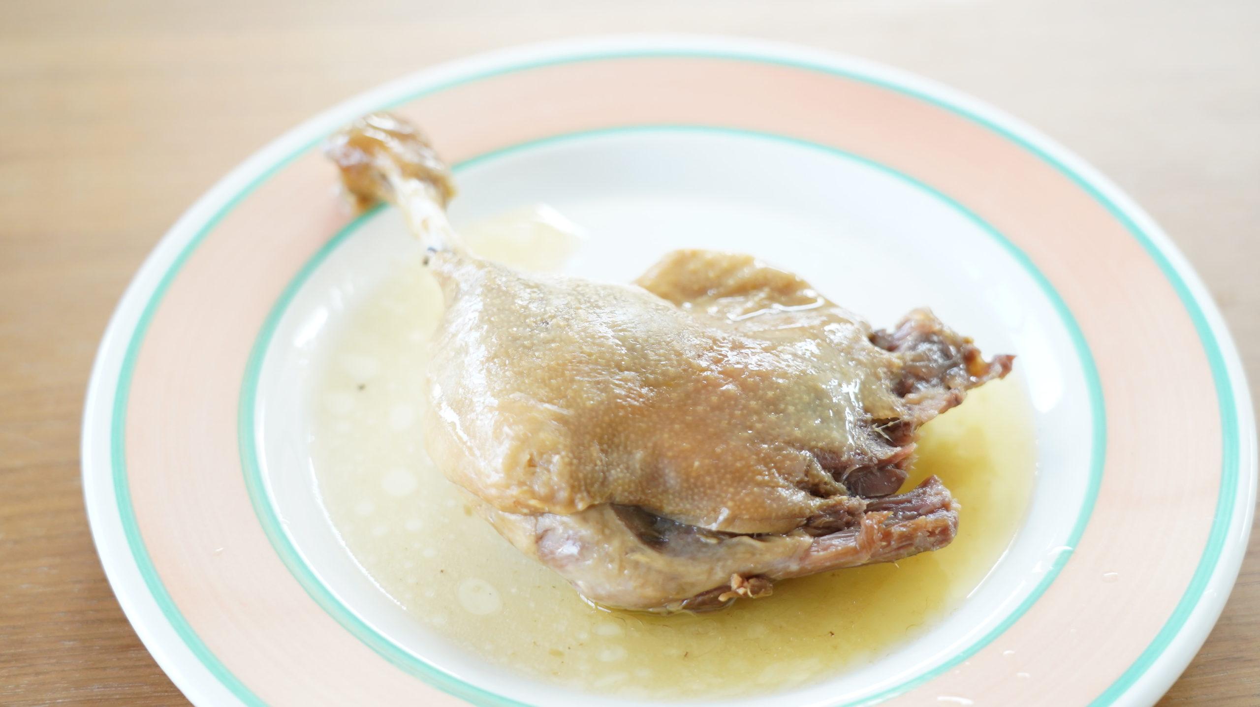 ピカールのおすすめ冷凍食品「フランス南西部産・鴨肉のコンフィ」の商品写真
