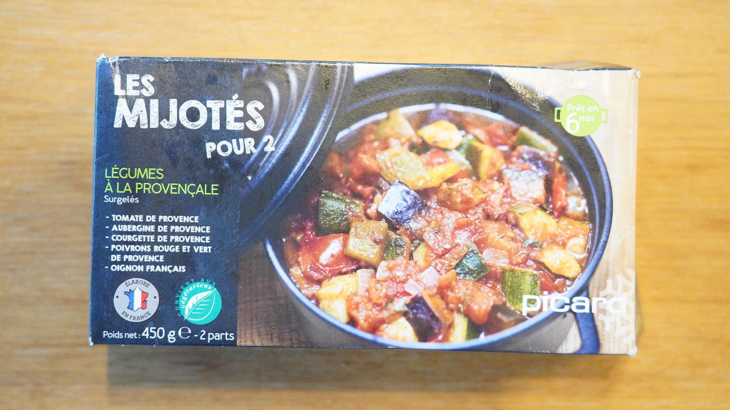 ピカールのおすすめ冷凍食品「プロバンス風野菜の煮込み」のパッケージ写真