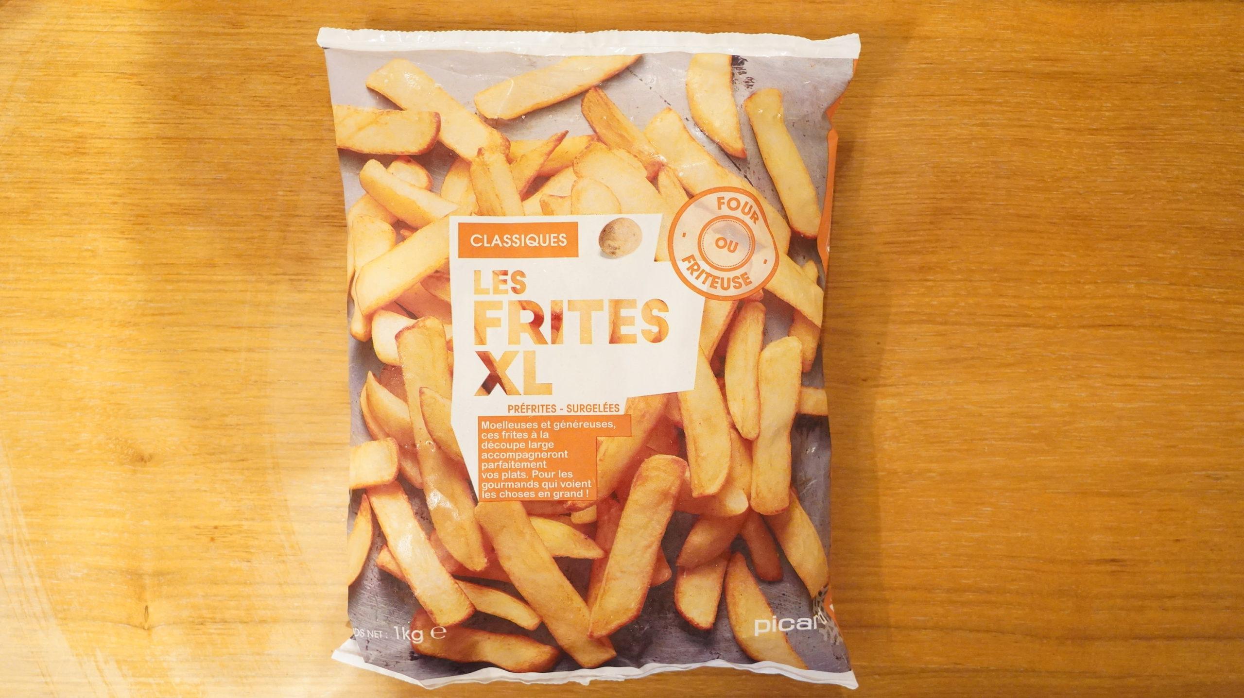 ピカールの冷凍食品「フレンチフライ XL」のパッケージ写真