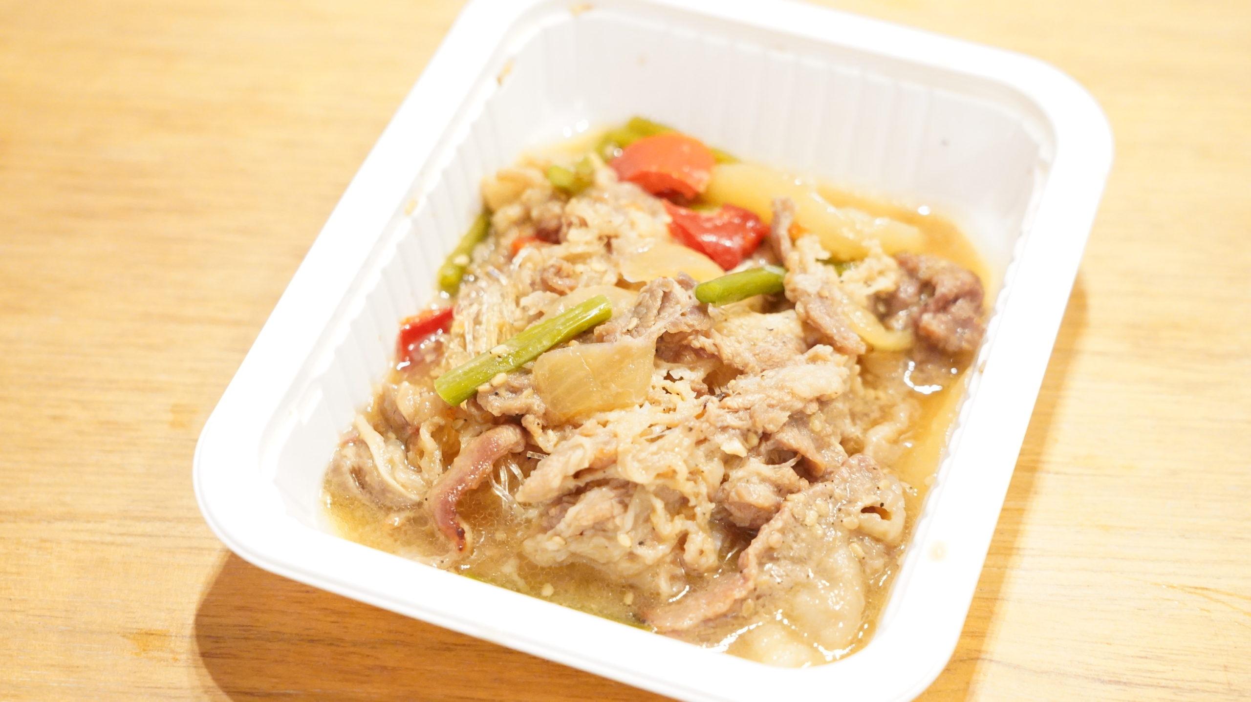 セブンイレブンのおすすめ冷凍食品「牛プルコギ春雨入り」の中身の写真