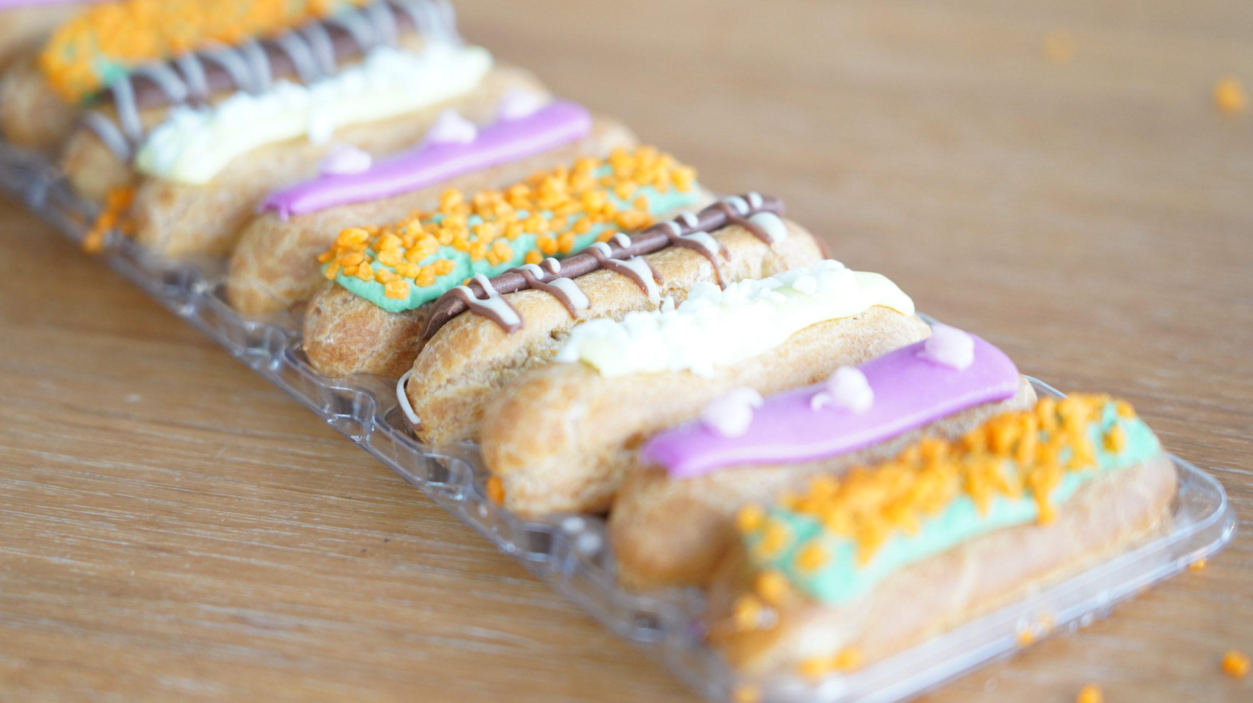 ピカールの冷凍食品「食いしん坊のミニエクレア」の拡大写真