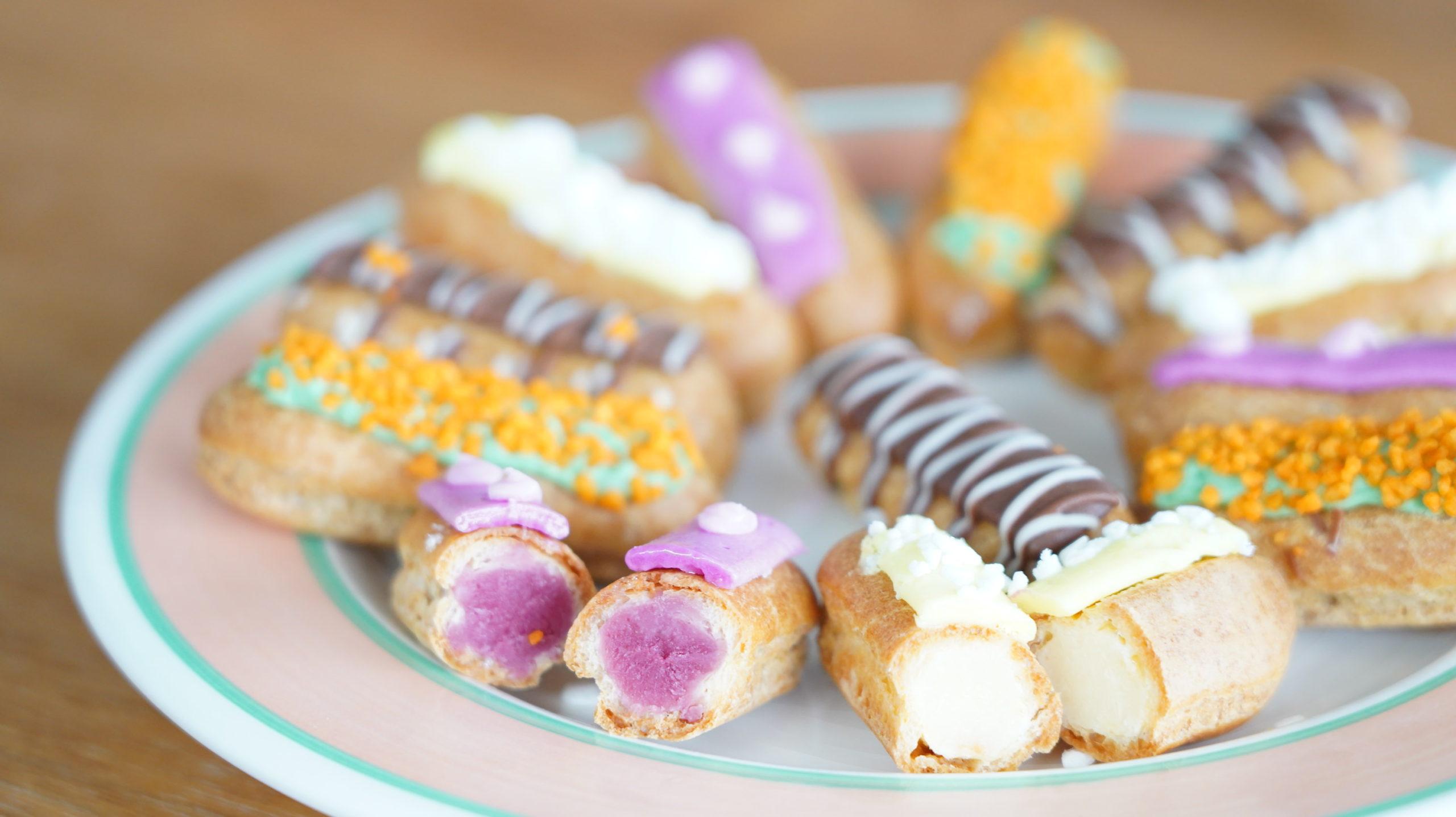 ピカールの冷凍食品「食いしん坊のミニエクレア」を解凍した写真