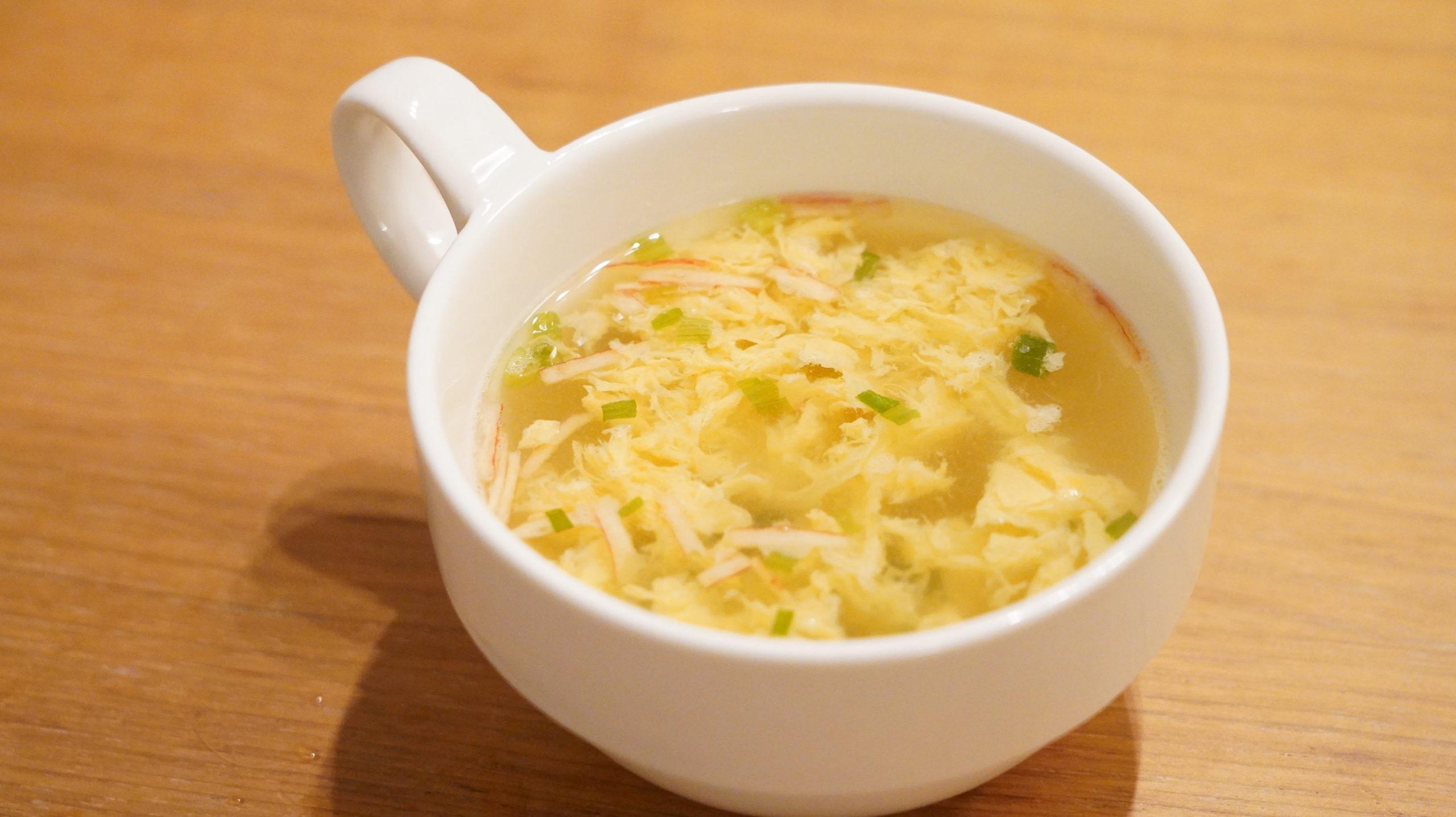 生協の宅配「おうちコープ」のたまごスープの完成写真