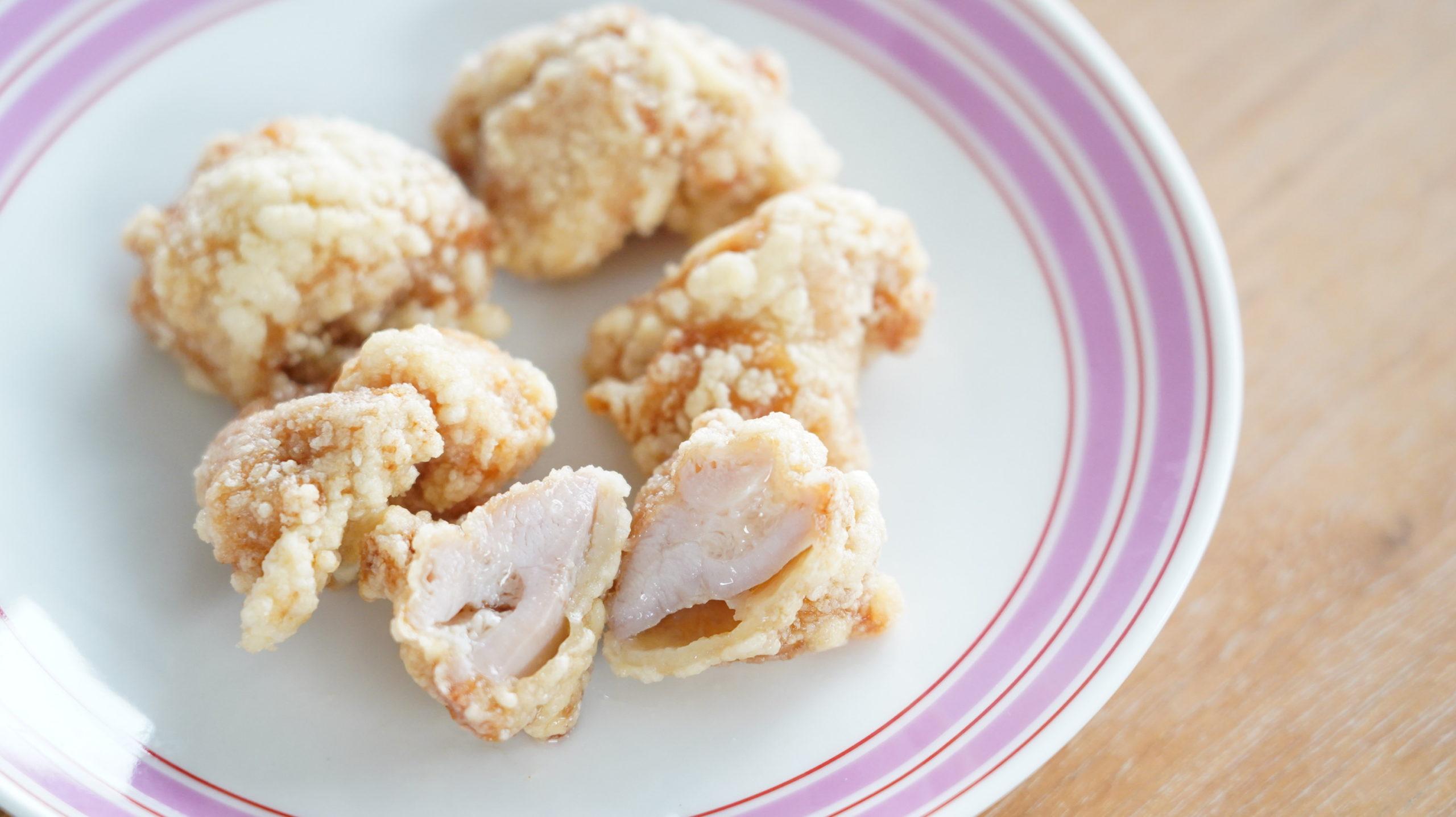 コストコの冷凍食品「CP 若鶏の竜田揚げ」のクローズアップ写真