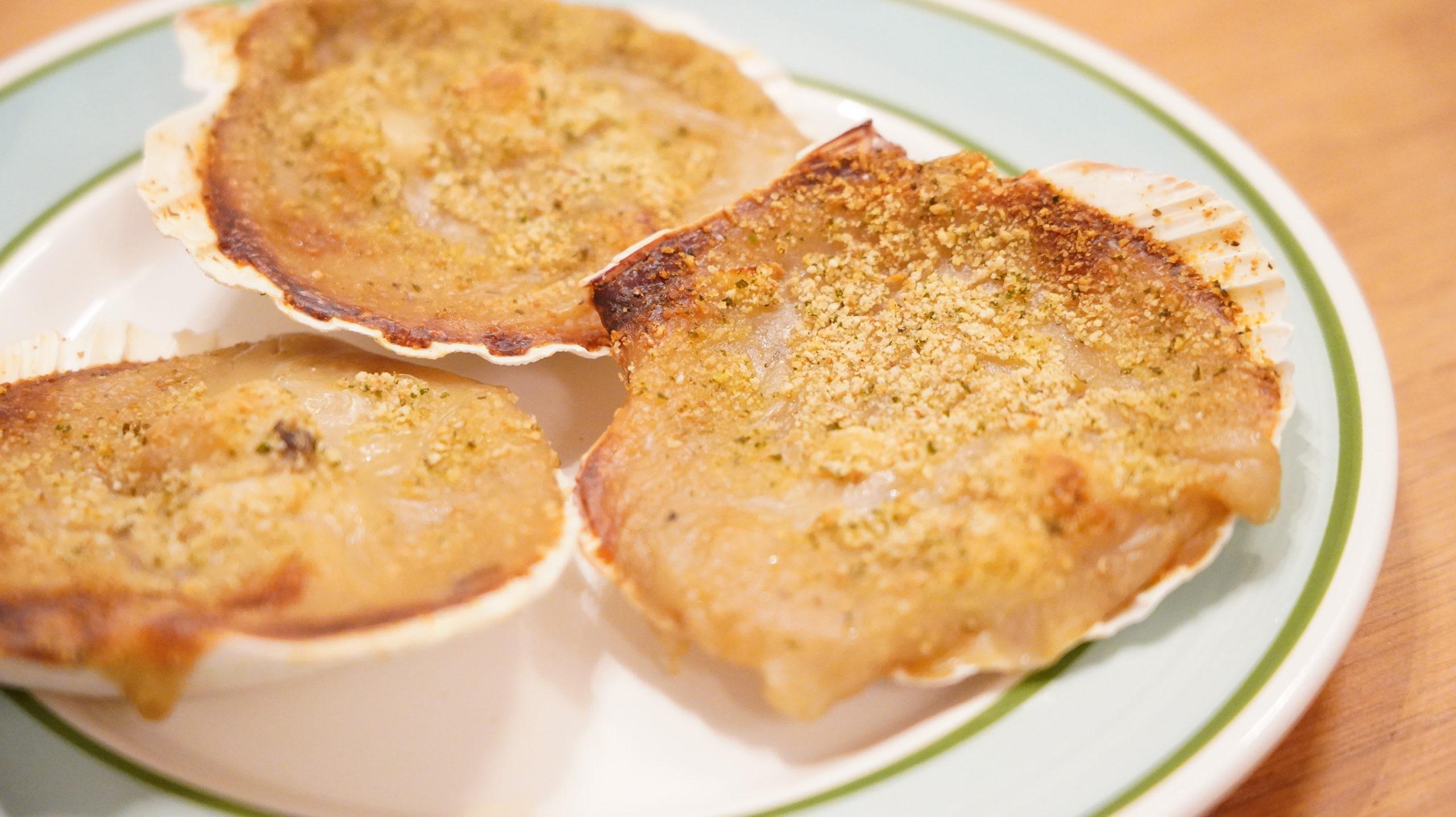 ピカールの冷凍食品「サンジャックのオーブン焼き・ノルマンディ―風」のグラタンの写真