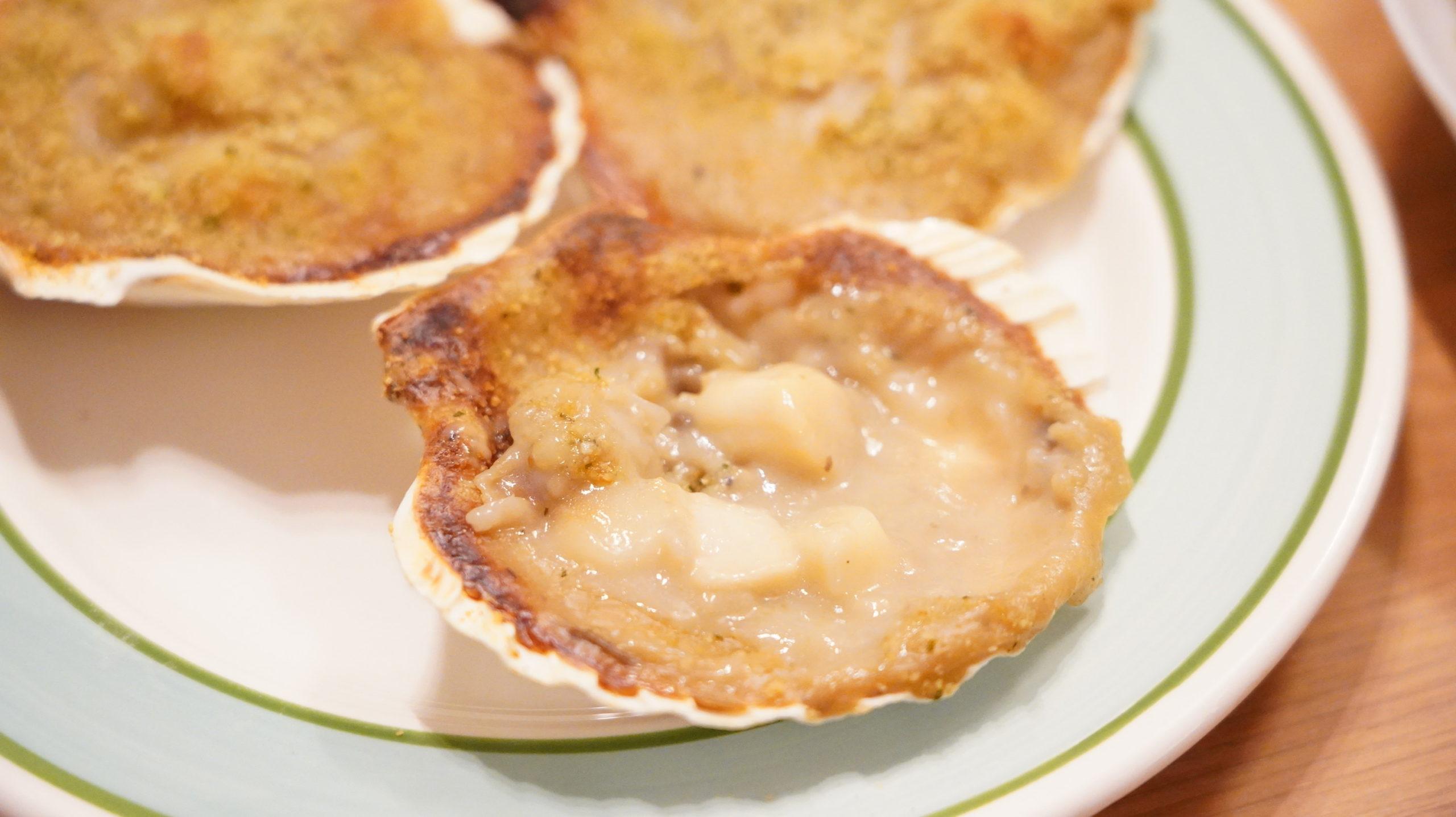 ピカールの冷凍食品「サンジャックのオーブン焼き・ノルマンディ―風」のクローズアップ写真
