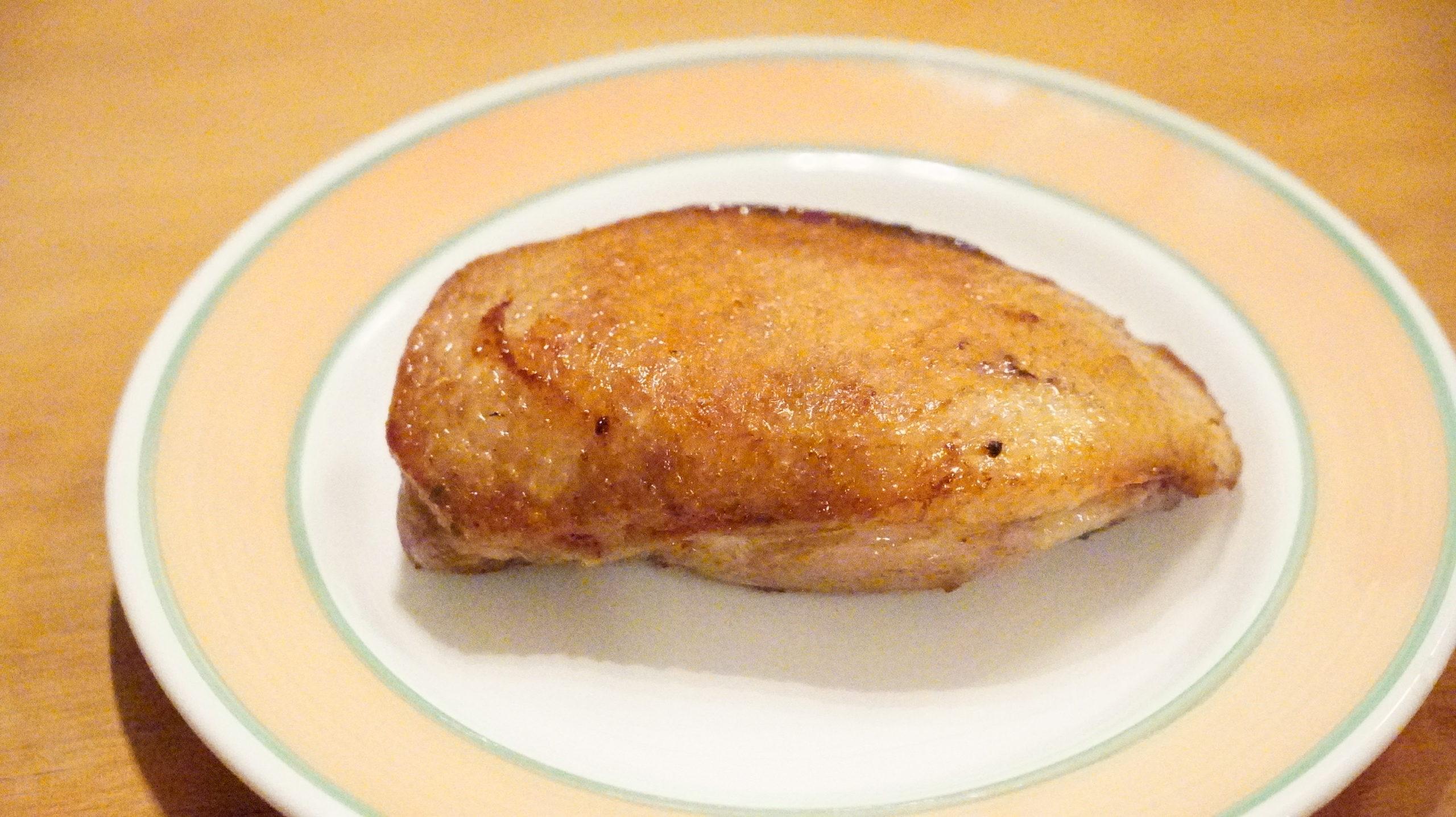 ピカールの冷凍食品「フランス南西部産マグレドカナール」のカットする前の写真