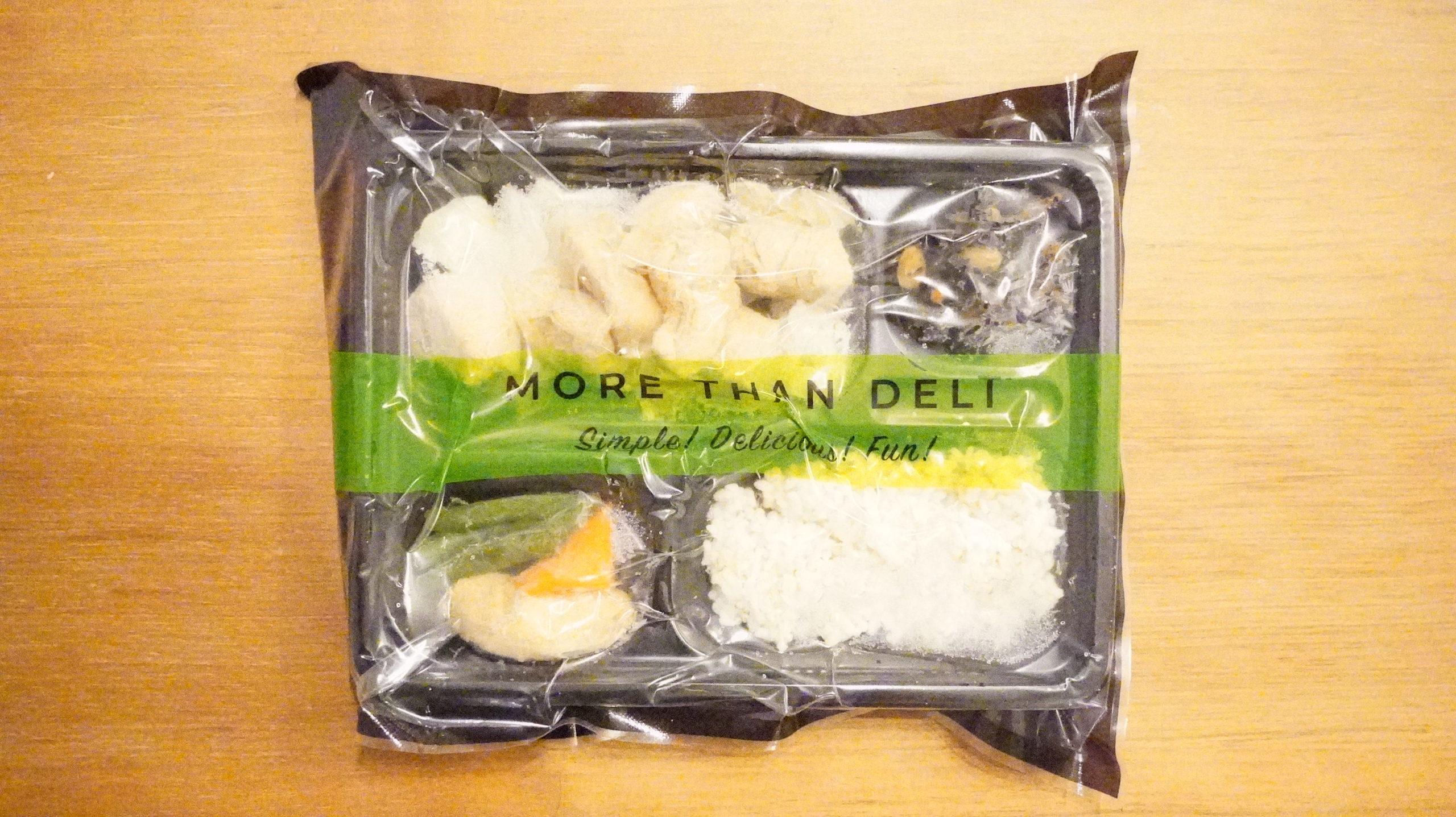 More than Deli(モアザンデリ)の冷凍弁当「鶏肉の生姜焼き」のパッケージ写真
