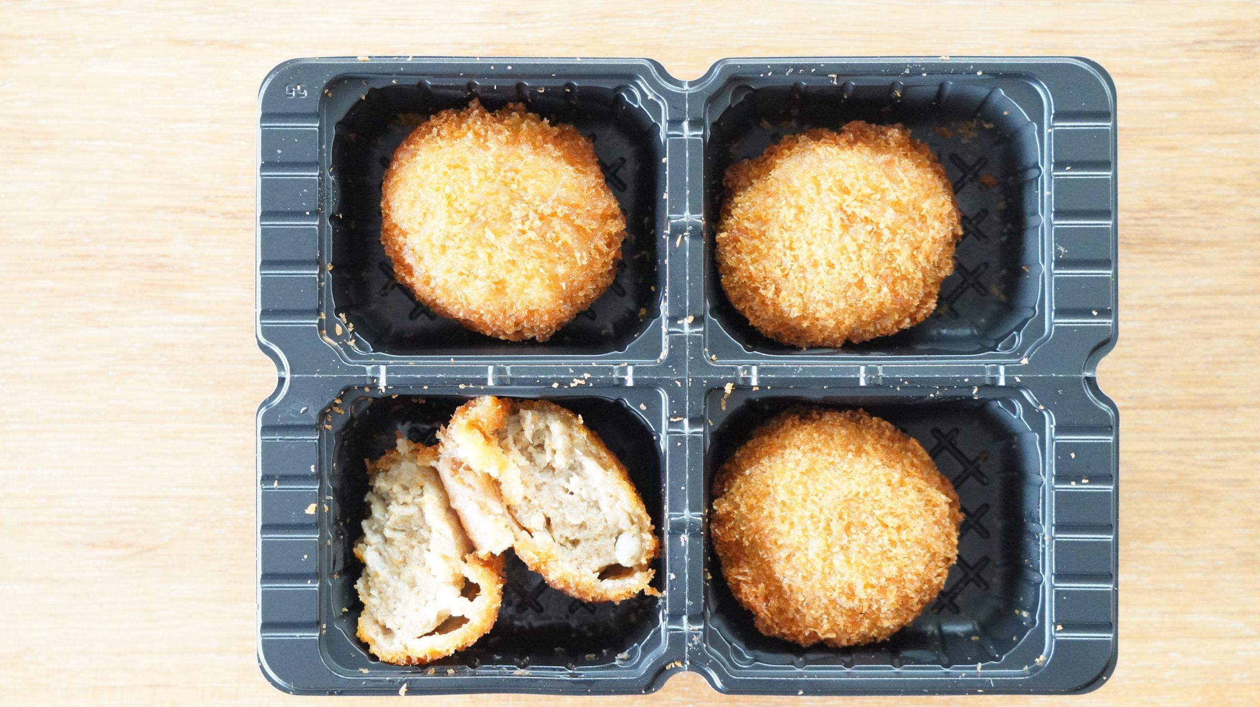 ファミリーマートの冷凍食品「じゅわ旨メンチカツ」の中身の写真