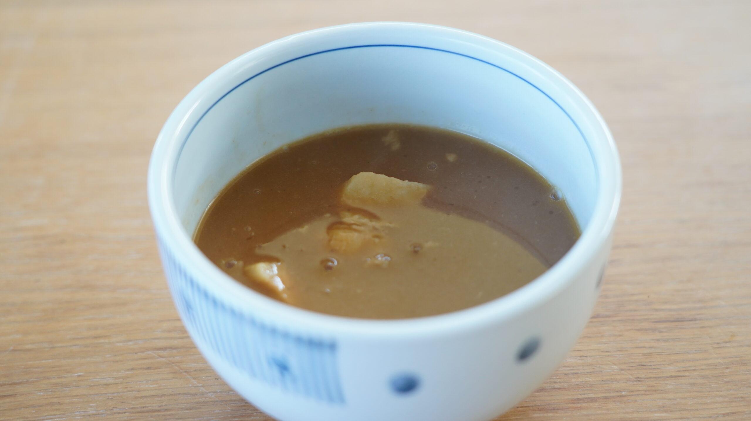 「風雲児」の「つけめん」をオンライン通販でお取り寄せした冷凍ラーメンのスープの写真