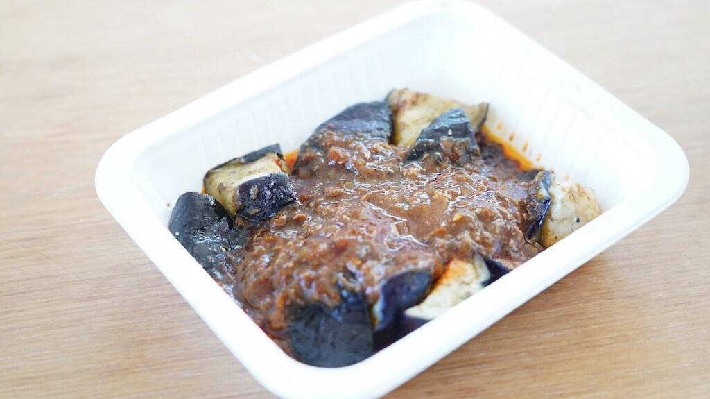 セブンイレブンの冷凍食品「ピリッとうま辛豆板醤の麻婆茄子」の中身の写真