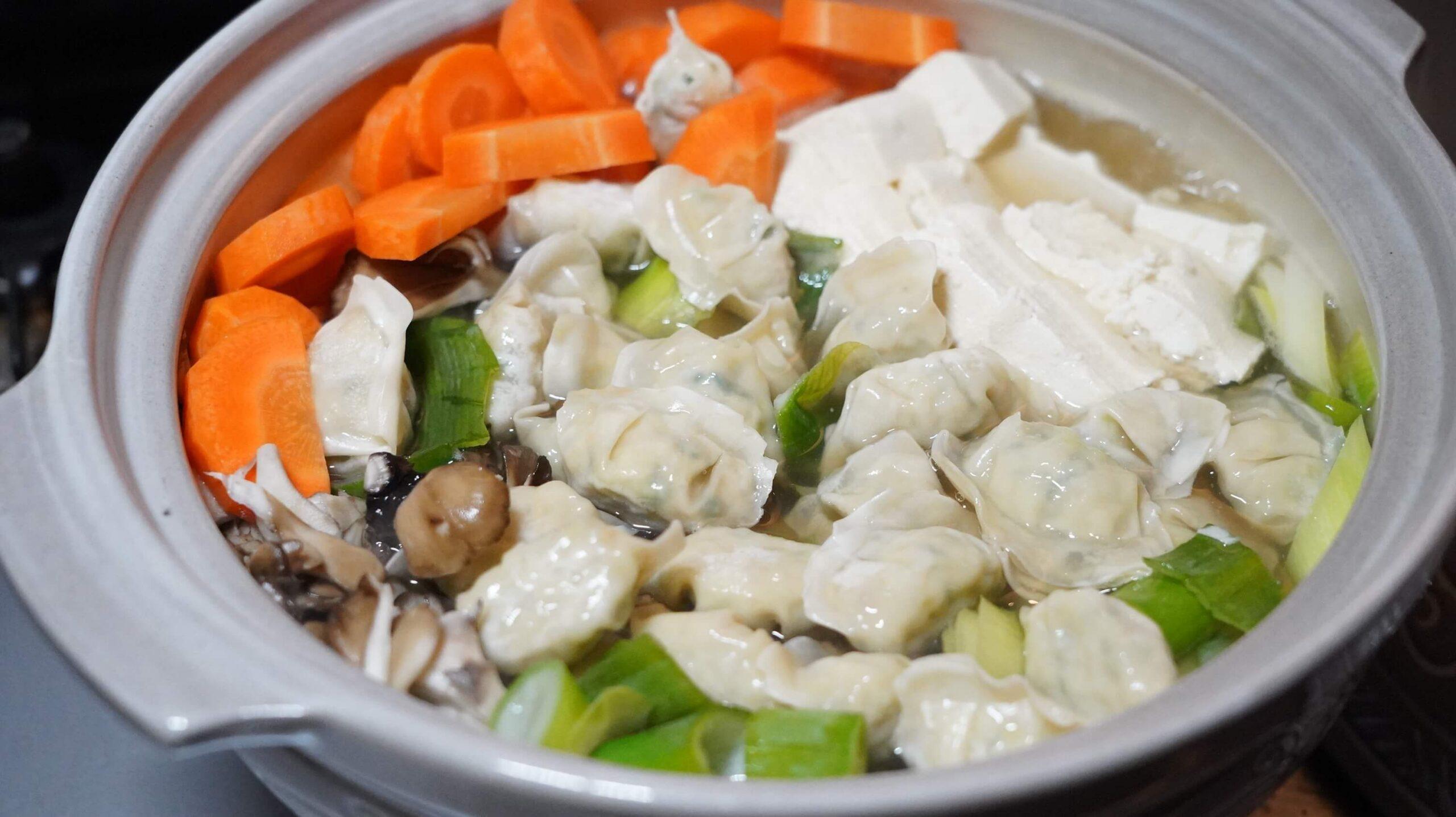 コストコの冷凍食品「bibigo 水餃子」を3分間茹でた写真