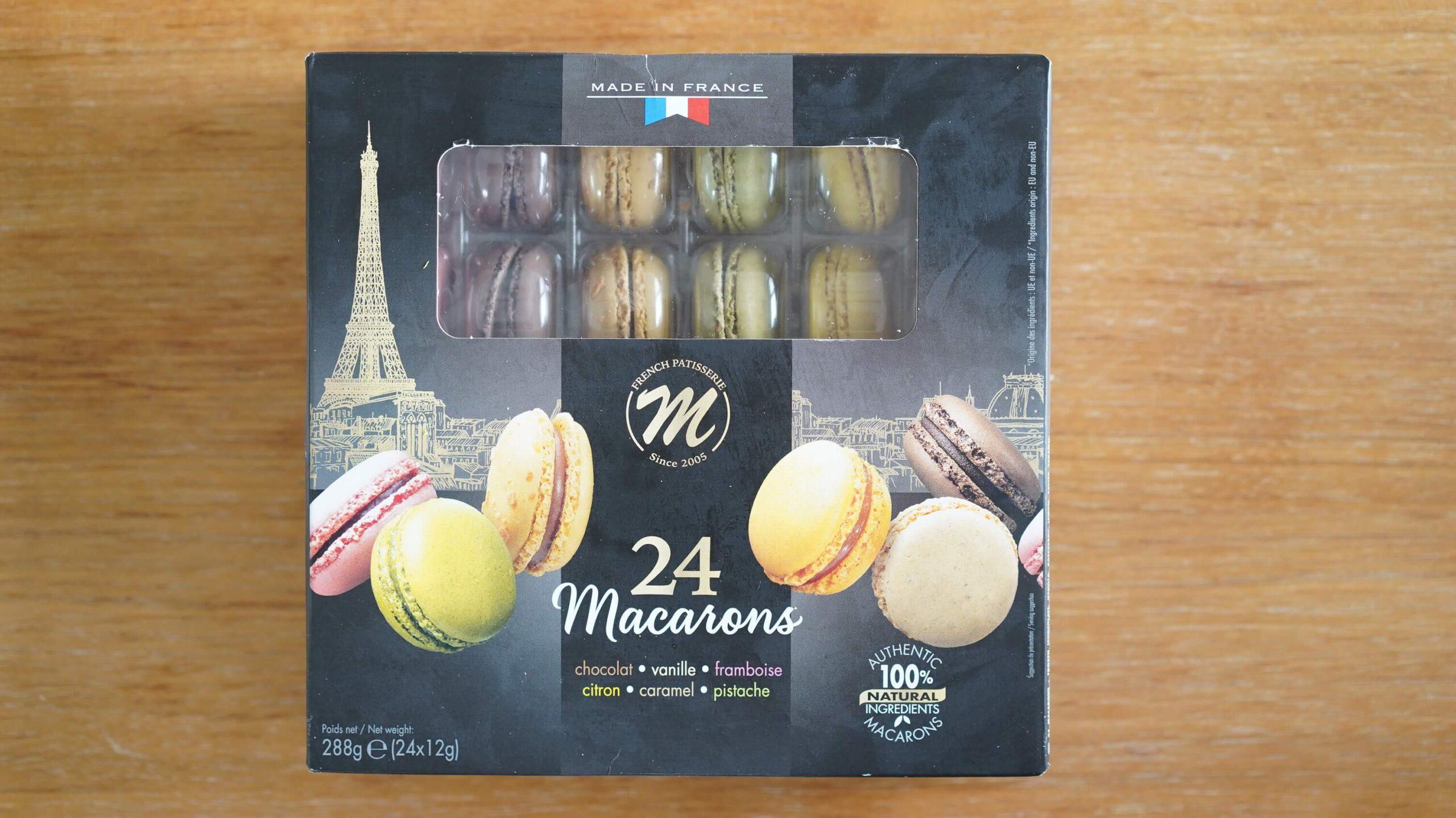 コストコの冷凍食品「マカロン」のパッケージ表面の写真