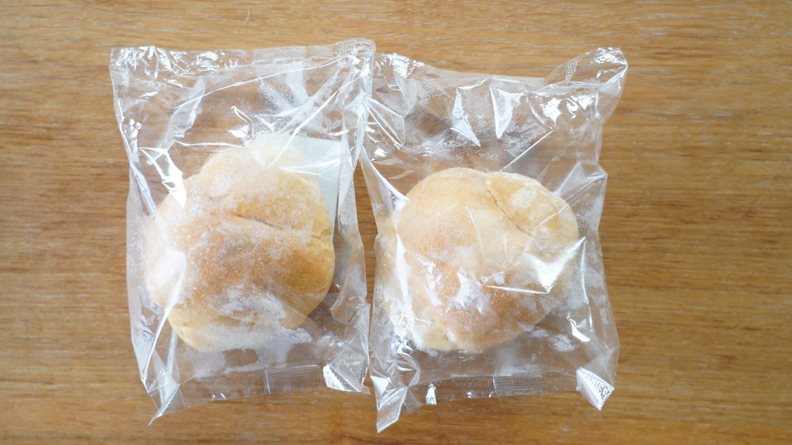 nosh(ナッシュ)の冷凍食品「バターロールパン」のパッケージの写真
