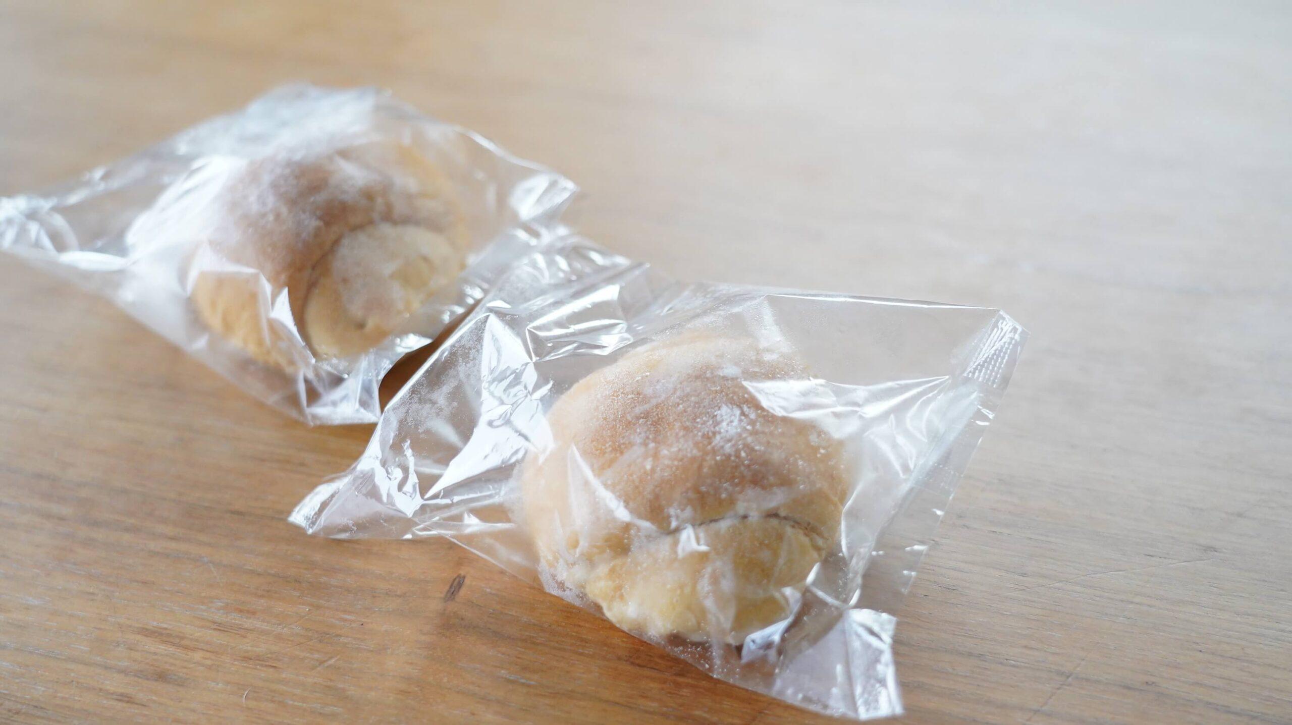 nosh(ナッシュ)の冷凍食品「バターロールパン」を上から撮影した写真
